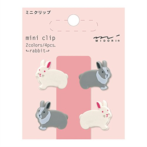 Midori Mini Clip, 4 Pieces, Rabbits (43307006)