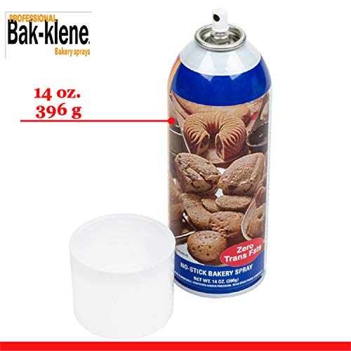 Bak-Klene ZT All Purpose Release Spray - Bakers Joy Baking Spray, Grill Nonstick Spray for Cooking, Pan Oil Spray, High Heat Cooking Spray to Keep Food Prom Sticking to Your Pans, 14oz, Pack of 6