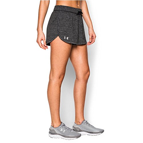 Under Armour Women's Tech Short - Twist, Black (001)/Metallic Silver, Medium