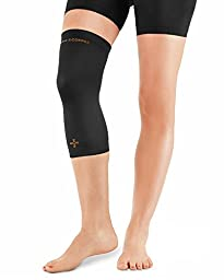 Tommie Copper Women\'s Recovery Refresh Knee Sleeve, Black, Large