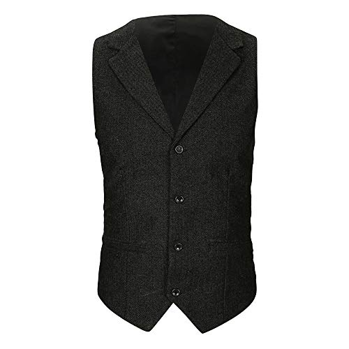 POHOK Clearance Sale Jackets for Men Beston Droit Waistcoat Pocket Vest Top Coat