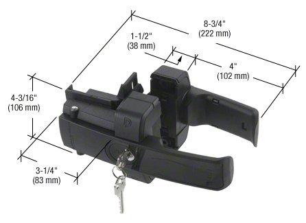Black Magnetic Lokk Latch Gate Lock by CR Laurence