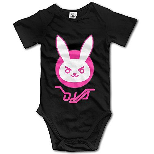 LALayton Overwatch Rabbit Funny For Triangle Romper Bodysuit Jumpsuit Onesie - Black