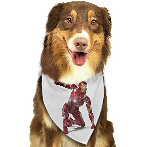 Pet Dog Scarf Superhero Robot Transformer Hero with Superpower in Costume Cyber Man Fun Character Print W27.5 xL12 Scarf for Small and Medium Dogs and Cats]()