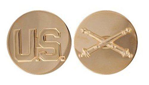 Enlisted Branch Gold Lapel Disc Set - FIELD ARTILLERY ()