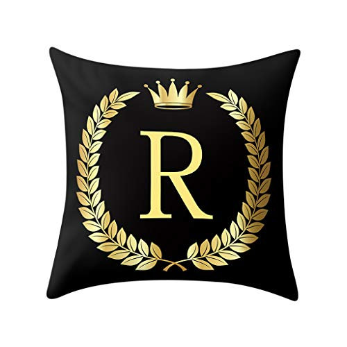 - Weiliru Sofa Pillow Cases Square Pillow Covers 18 x 18 Letter Series Cotton Linen Decorative Cushion Covers