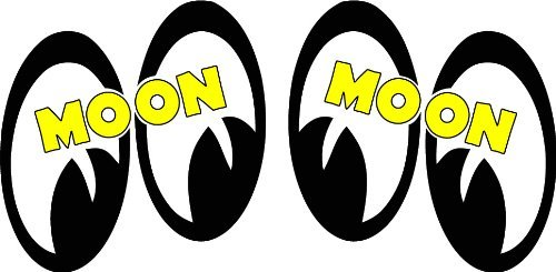 Moon Eyes Pair Right & Left Small Decal is 3