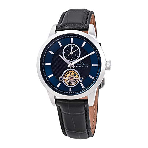 Lucien Piccard Open Heart GMT Automatic Blue Dial Men's Watch LP-28007A-03