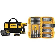 DEWALT DCD771C2 20V Max Lithium-Ion Compact Drill/Driver Kit & DEWALT DW2166 Screwdriving Set, 45-Piece