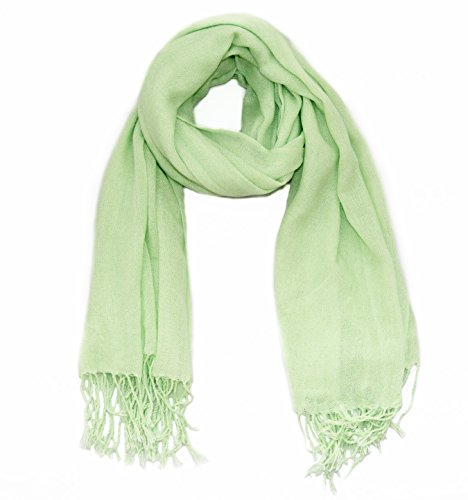 (Soophen Pashmina Scarf Beautiful Solid Colors - Lime Green)