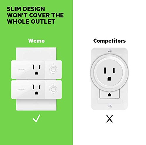Wemo Mini Smart Plug, Wi-Fi Enabled, Compatible with Alexa (F7C063-RM2) (4 pack) (Renewed) by WeMo (Image #6)