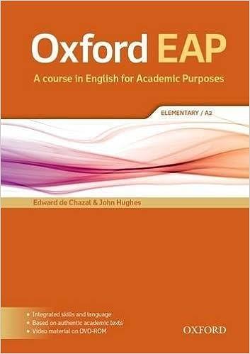 Oxford EAP: Oxford English for Academic Purposes Elementary. Students Book + DVD Pack: Amazon.es: de Chazal, Edward, Hughes, John: Libros
