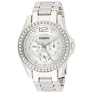 Fossil Damen Analog Quarz Uhr mit Edelstahl Armband ES3202 9