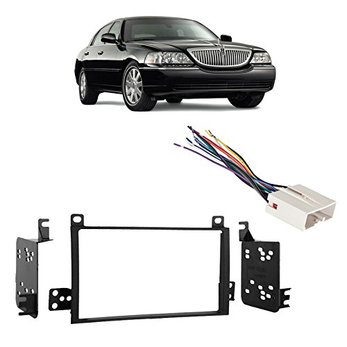 Fits Lincoln Town Car 03-11 Double DIN Stereo Harness Radio Install Dash Kit