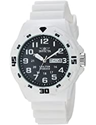 Invicta Mens Coalition Forces Quartz Stainless Steel and Silicone Casual Watch, Color:White (Model: 25326)