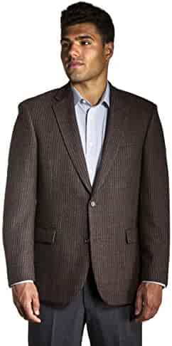 Ferracci Big and Tall USA Made Taupe Pattern Worsted Wool and Lambswool Sport Jacket