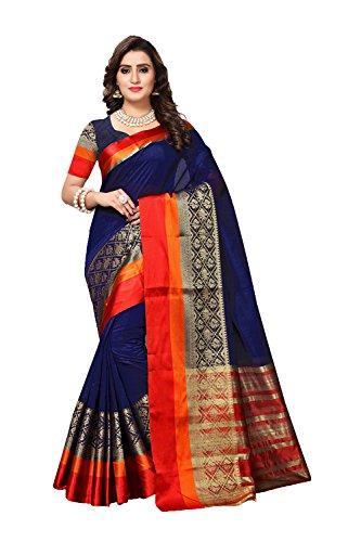 Da Wear for 8 Sari Wedding Women Blue Dark Designer Indian Traditional Sarees Facioun Party S8frSqA