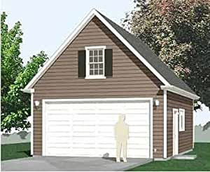 Garage plans 2 car compact steep roof garage plan with for 20x30 carport plans
