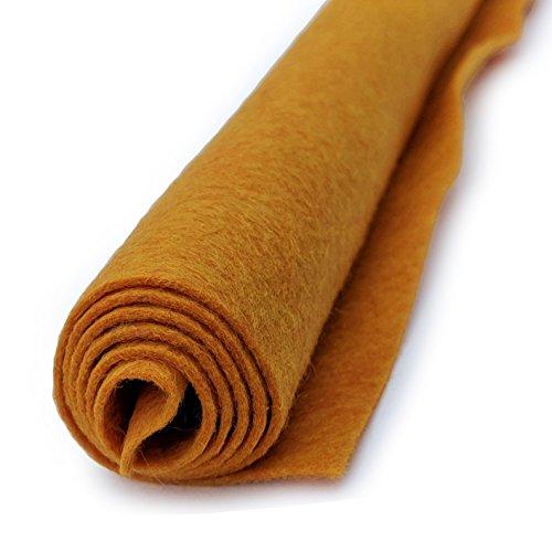 Butternut Squash Yellow-Brown - Wool Felt Oversized Sheet - 35% Wool Blend - 1 12x18 inch sheet