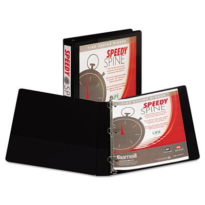 Samsill Speedy Spine 181C Ring Binder - 1quot; Binder Capacity - Letter - 8.50quot; Width x 11quot;