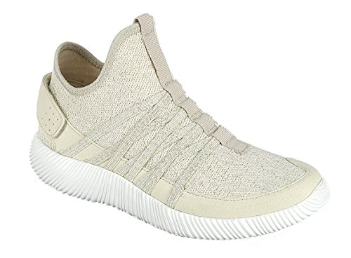 Forever Link Womens Lightweight Breathable Strappy Sport Fashion Sneaker Beige GTDgM0