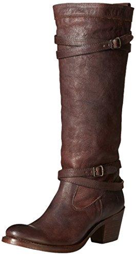 FRYE Womens Jane Strappy Boot Dark Brown-76396 XzVxhJ