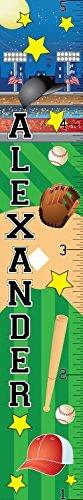 Mona Melisa Designs Customized Baseball Alexander Growth Chart Decorative Wall Sticker [並行輸入品]   B077YYH9R9