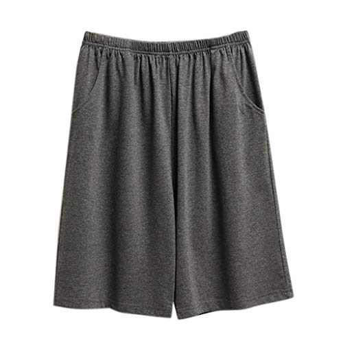 KINGOLDON Sleep Pants Men's Casual Sports Loose Pants Beach Pants Men's Swim Shorts Dark Gray]()