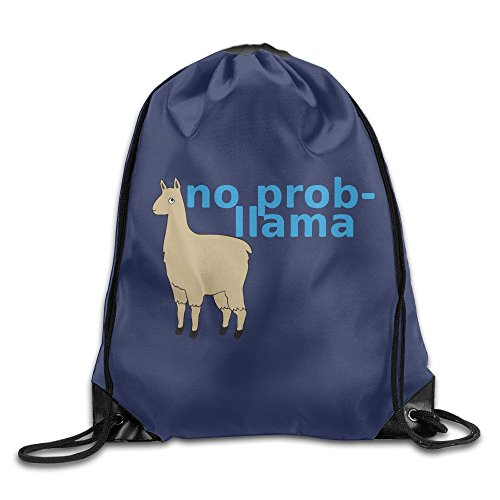 Funny No Prob-llama Sports Bag Drawstring Backpack For Sale