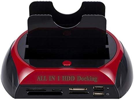 Cimiva OKAYO HDD Docking Station Dual Internal Hard Drive Docking Station Base HDD Enclosure for 2.5 Inch 3.5 Inch IDE//Sata USB 2.0