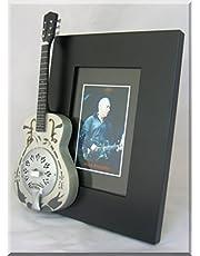 Mark Knopfler guitarra en miniatura marco de fotos resonador DOBRO dire Straits