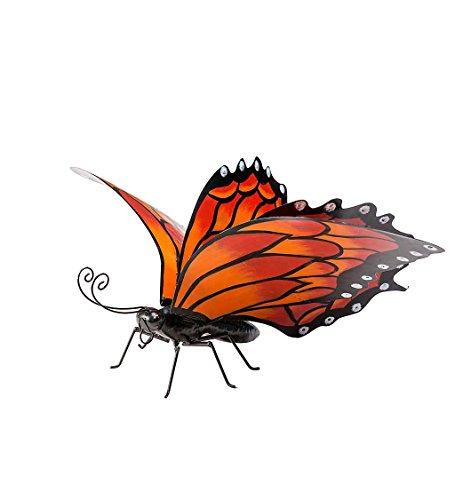 Wind & Weather Metal Monarch Butterfly 22.5''L x 24.5''W x 17.25''H