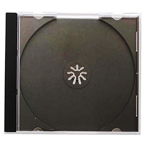 Single Jewel Cases Cd Dvd - KEYIN Standard Black CD Jewel Case - Premium, 50 Pack