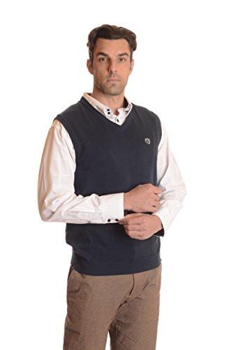 V-Neck Cotton Sweater Vest - 3