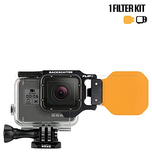 FLIP6 One Filter Kit with Red Underwater Color Correction DIVE Filter for GoPro 3, 3+, 4, 5, 6