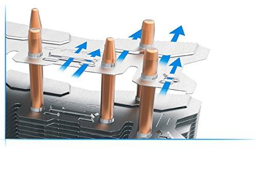 Zalman CPU Cooler with Direct Tough Heatpipe Base and Shark Fin Fan Cooling, Silver, (CNPS8X Optima) by Zalman (Image #6)