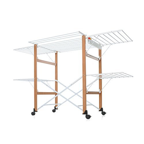Casa Gulliver Clothes Drying Rack Color: Maple Light Wood