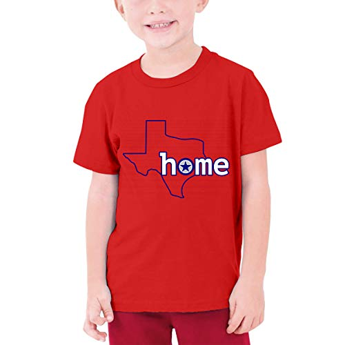 YUNLIHO Geek Design Texas Home Map Big D Football Fans Tshirts O-Neck for Red S