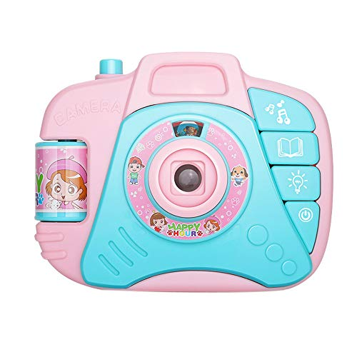 Cinhent Toys, 0-3 Year Old Early Learning Development, Educational Science Toy Simulated Camera Projection Simulation Sound Children Funny Gift, Environment-Friendly (Pink)