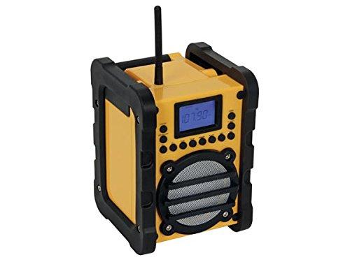 Perel WR25207 Port/átil Digital Negro Radio Port/átil, Digital, FM,PLL, 7 W, LCD, Negro, Amarillo Amarillo