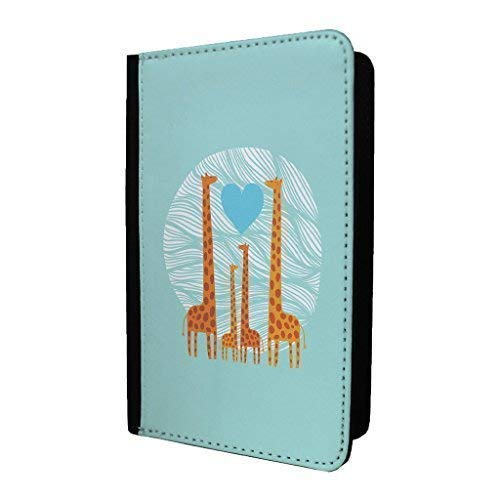 S2227 Accessories4life Giraffe Art PU Leather Travel Passport Holder Protector Cover Wallet Case Cover