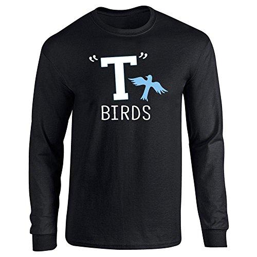 (T Birds Gang Logo Costume Retro Black L Long Sleeve)