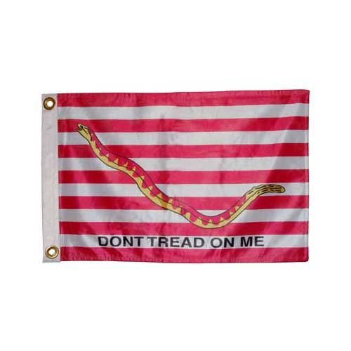 (Online Stores Super Knit Polyester Double Sided Yacht/1st Navy Jack Flag, 12 by 18-Inch)