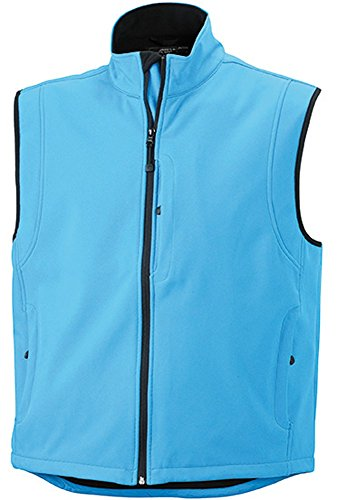 JN136 Men's gilet Softshell gilet in Softshell alla moda nero 46