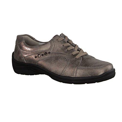 Waldläufer 312011-175-103 - Zapatos de cordones de Piel para mujer gris gris peltro