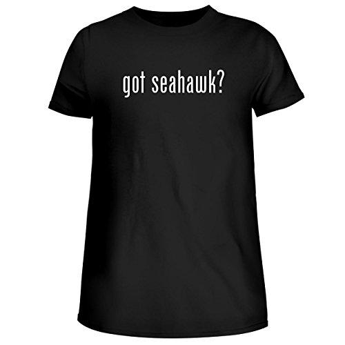 BH Cool Designs got Seahawk? - Cute Womens Junior Graphic Tee, Black, Medium