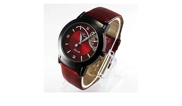 Amazon.com: Claudia Fashion PU Leather Strap Watch Women Luxury Diamond Pretty Quartz Wrist (Purple): Cell Phones & Accessories