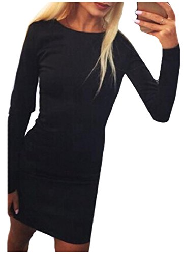 Sexy Long Bodycon Black Backless Tops Women Mini Sleeve Dress Down Coolred 5qI6Ex