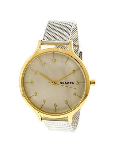 Mesh Ladies Skagen (Skagen Women's Analog-Quartz Watch with Stainless-Steel Strap, Silver, 14 (Model: SKW2702))