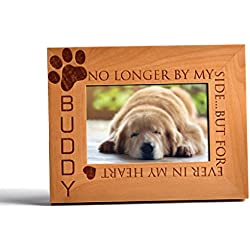 Personalized Pet Memorial Alder Wood Photo Frame Forever In My Heart Custom Urn 5x7 Horizontal